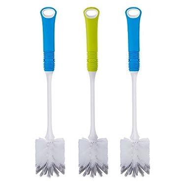 MR. SIGA Long Handle Bottle Brush - Set of 3