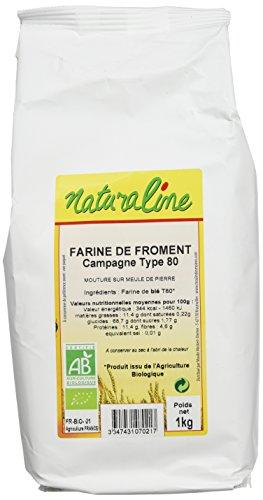 Moulin des Moines Farine de Froment Campagne Extraction 80% Type 80 Bio 1 kg - Lot de 5