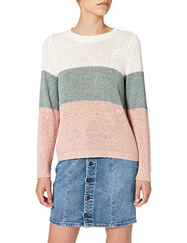 Only Onlgeena L/s Block Pullover Knt Noos suéter, Multicolor (Cloud