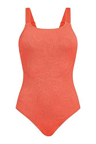 Amoena Damen Panama Einteiliger Badeanzug, Orange, 44 DE/C