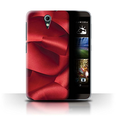 Stuff4 Hülle/Hülle für HTC Desire 620G / Rotes Samtband Muster/Rote Mode Kollektion