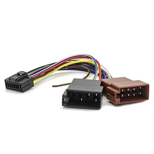 Sound Way - Cable Adaptateur Faisceau ISO autoradio JVC 16 pin connecteur