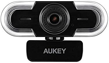 AUKEY Webcam 2K HD con Microfono, Focus Manuale e Regolazione Automatica della Luminosità, Telecamera PC per Video Chat e Registrazione, Compatibile con Windows, Mac e Android