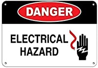 2個 危険電気的危険錫サイン金属プレート装飾サイン家の装飾プラークサイン地下鉄金属プレート8x12インチ メタルプレートブリキ 看板 2枚セットアンティークレトロ
