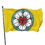 Bandera de corazón Luterano rosa adorna bandera americana 3x5 al aire libre bandera de jardín bandera bandera de Estados Unidos bandera decorativa bandera de 3 x 5 pies