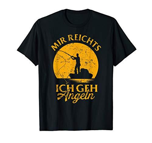 Herren Geschenk für Fischer Mir reicht's Ich GEH' auf die Angeln T-Shirt
