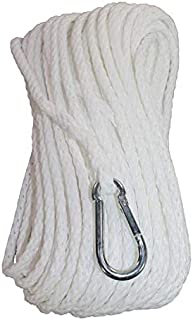 SGT KNOTS Polypropylene Braided Anchor Rope Hollow Braid Boat Anchor Line with Spring Snap Hook - Lines for Marine Use, Fishing, Small Boats