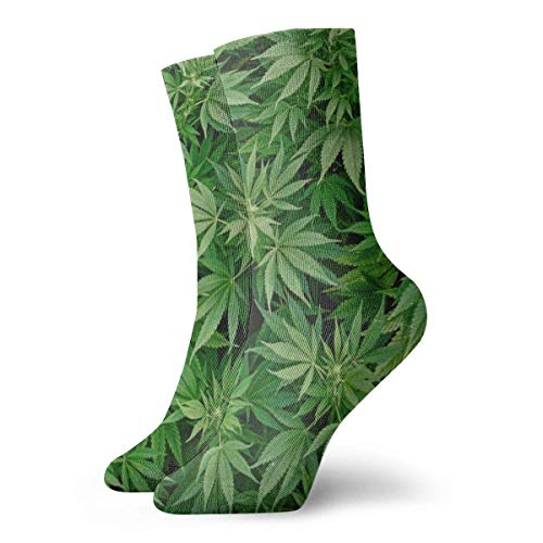 Warm-Breeze Weed Leaves Compression Socks Unisex Socks Fun Casual Crew Socks Thin Socks Short Ankle For Outdoor Athletic Moisture Wicking