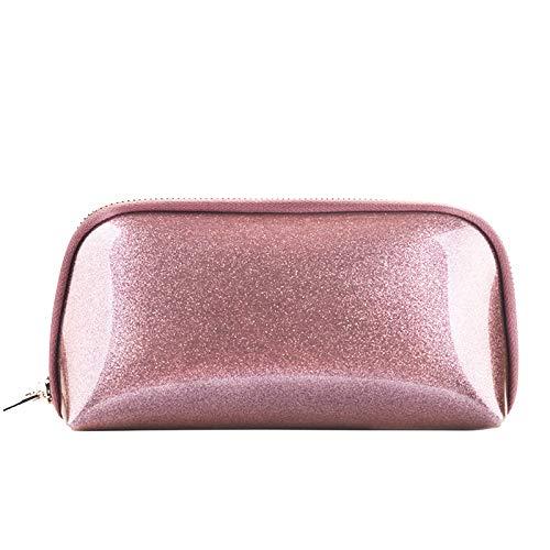 Voyage sac de rangement sac de lavage sac cosmétique femme main prendre pvc shell sac cosmétique 22 * 5 * 11 CM brun