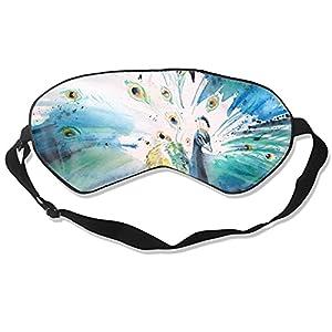 Maschera per gli occhi con pavone, per dormire, morbida e soffice, per donne e uomini, 99% copertura per gli occhi, per i viaggi, i turni di lavoro