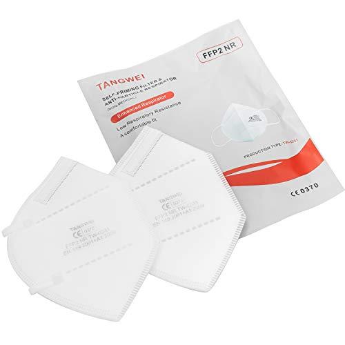 FFP2 Atemschutzmaske, sichere Maske mit Mehrschichtfiltrationssystem, die Norm EN 149: 2001 + A1: 2009 erfüllen, sanft und sicher (50)