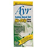 Ayr Saline Nasal Gel No-drip Sinus Spray With Soothing Aloe Vera, 0.75 Ounce Spray Bottle...