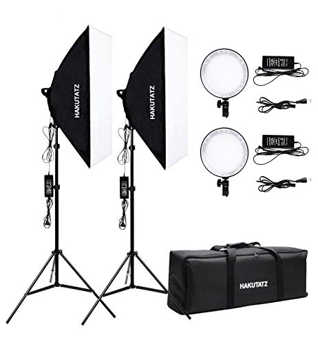 HAKUTATZ® 45W LED Softbox Studio Dauerlicht Set Foto Studio Daylight (II)