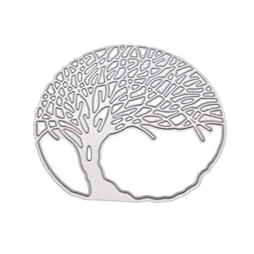 WuLi77 Baum Metall Stanzschablone Die Stanzen Zum Basteln Von Karten, Prägeschablone Für Scrapbooking, DIY Album, Papier, Karten, Kunst, Dekoration