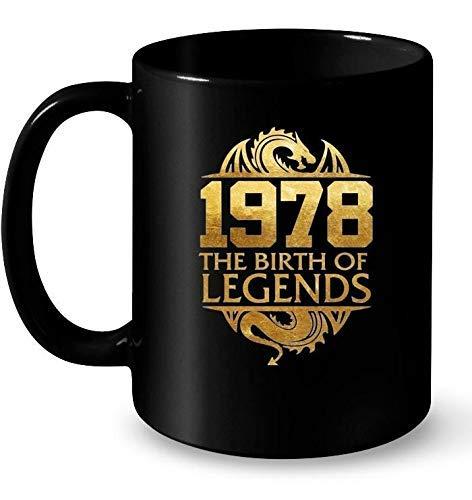 N\A 1978 el Nacimiento de Leyendas clásico clásico 40 años Regalo de la Madre, Regalo del día de la Madre, Regalo para mamá café Blanco/Negro