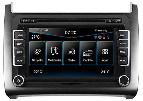 ESX VW Polo 6C (ab 04/2014) 2-DIN Autoradio Navi VN720-VO-P6C-SILVER