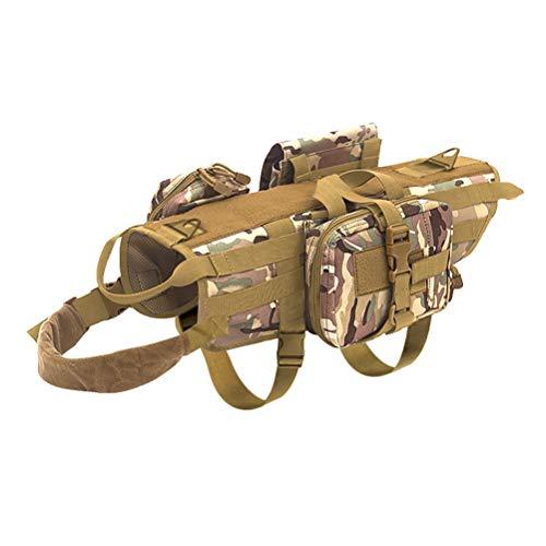 Feidaeu Pet Sattel Brustgurt Weste Mit Abnehmbaren Beuteln MilitäR K9 Medium Large Tactical Dog Outdoor Training Harness