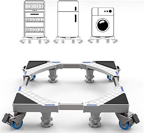 Supporto Frigorifero con Ruote SEISSO Base Frigorifero Regolabile da 44.8 a 69 cm per Asciugatrice Frigorifero Supporta 500kg max