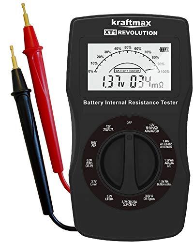 kraftmax XT1 Revolution - Profi Batterietester/Akku - Batterie Tester der neuesten Generation - Testgerät inkl. Innenwiderstand Test