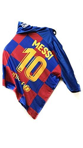 ADK SPORTS Neue Saison Barcelona Messi # 10 Kinder/Jugend Heimtrikot & Shorts 2019-2020 Rot/Blau (164/10-11 Jahre)
