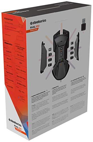 【国内正規品】ゲーミングマウスSteelSeriesRival650Wirelessデュアルセンサー重量・重心カスタマイズ機能32ビットARMプロセッサー搭載62456