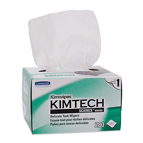 Kimberly-Clark Kimtech Science Kimwipes Delicate Task Disposable Wiper, 8-25/64' Length x 4-25/64' Width, White (Pack of 3)