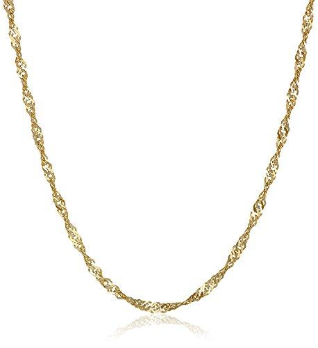 18 Karat / 750 Gold Singapur Kette Gelbgold Breite 2.50 mm Länge wählbar (60 CM)
