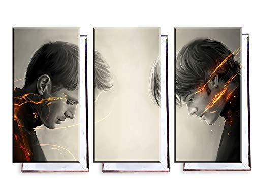 Unified Distribution Supernatural - Dreiteiler (120x80 cm) Kunstdruck auf Leinwand • erstklassige Druckqualität • Dekoration • Wandbild