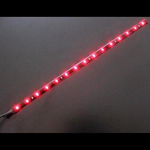 LED Streifen Band Leiste 30cm ; 24V Wasserfest IP65 15LEDs ; Rot