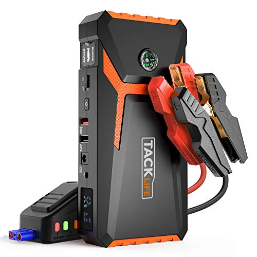 TACKLIFE T8 800A Peak 18000mAh Lithium Car Jump Starter for Up to 7.0L Gas or 5.5L Diesel Engine, 12V Auto Battery Booster with LCD Screen, Portable Power Bank with USB Quick Charge