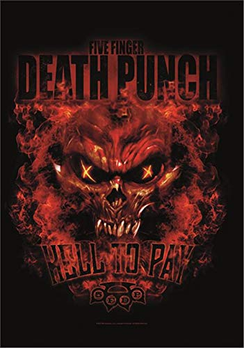 Heart Rock Licensed Flagge 5Finger Death Punch–Hell to Pay, Stoff, Mehrfarbig, 110x 75x 0,1cm