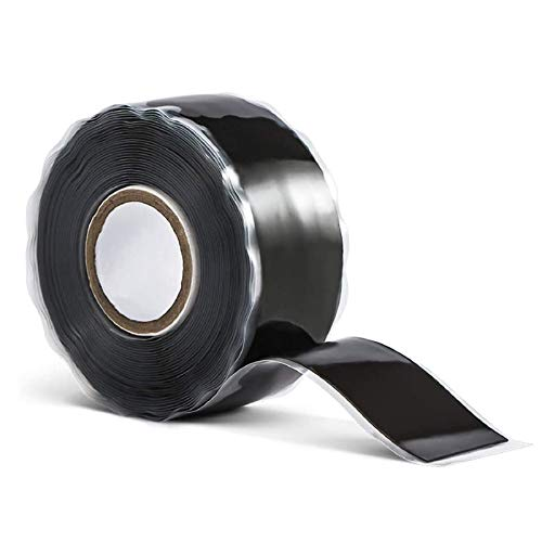"""Rescue Tape, 1""""x10' Black Self-Fusing Silicone Tape, Heavy Duty and Leak Proof Rubber Hose Tape, Pipe Repair Tape for Water Leaks (0.5mm in Thickness)"""