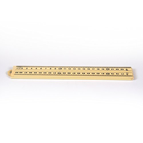 hand2mind 526-6 Plastic Folding Meter Stick With Inches And Centimeters (Pack of 6)