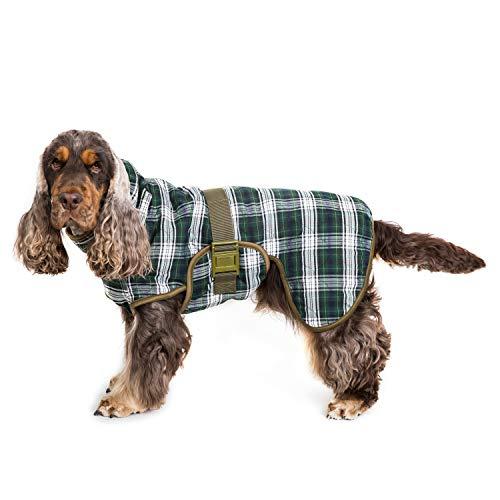 Siccaro Wetdog Platschen Saugfähige Hund Trocknen Mantel Robe, Schottenkaro - Schottenkaro, X-Large