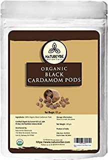 Sponsored Ad - Naturevibe Botanicals Organic Black Cardamom Pods Whole, 3.5 ounces (100g) | Non-GMO and Gluten Free | Indi...