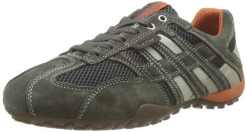 Geox Herren UOMO SNAKE K Sneaker, Grau (DK Grey/Off WHITEC1300), 42 EU