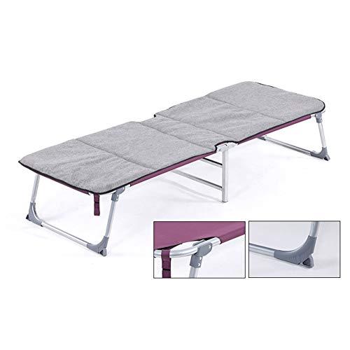 Opvouwbare campingbed, draagbaar gastenbed dubbellaags canvas sterk stabiel voor camping en dagelijkse vrije tijd