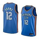 Camiseta de baloncesto sin mangas para hombre Oklahoma City Thunder 12# Steven Adams Baloncesto Fan Uniform Cool transpirable tela chaleco camiseta