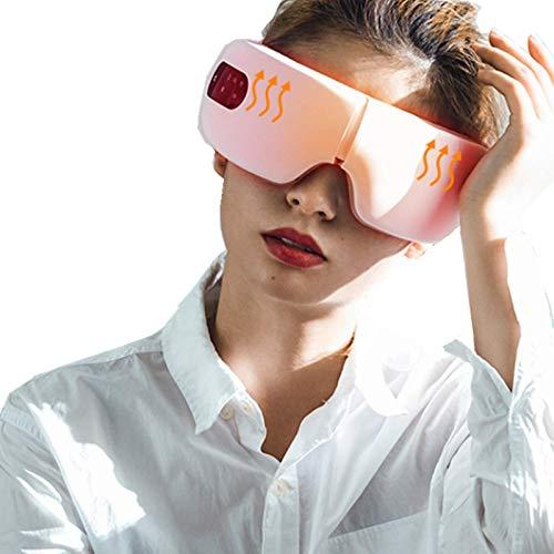 アイウォーマー 目元エステ 目元ケア 目元美顔器 液晶ディスプレイ Bluetooth音楽機能 四つ温度調節 振動 多周波振動 男女兼用 ヒーター USB充電式 180°折りたたみ 日本語説明書付き