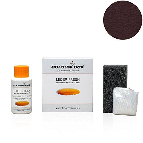 COLOURLOCK® Leder Fresh Tönung Mini 30 ml F-Standard-Farbe F016 mahagonibraun (Lederfarbe, Farbauffrischung), beseitigt Schrammen, Ausbleichungen und Abnutzung an Leder und Kunstleder