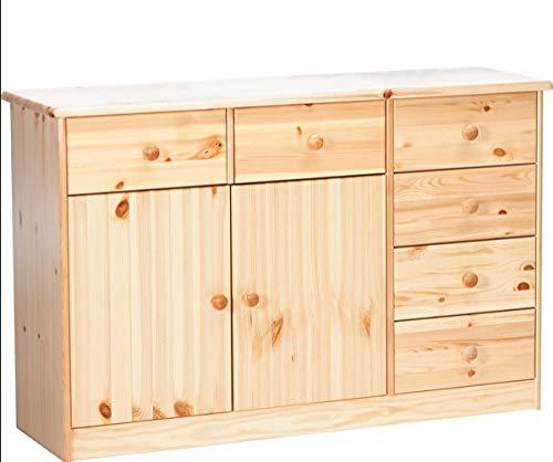 Erst-Holz® 90.50-26 Kommode Anrichte Kiefer Natur 6 Schubladen, 2 Türen