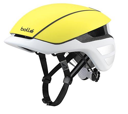 Bollé Premium Hi-Vis unisex Fahrradhelm, Matt Gelb / Weiß, 54-58 cm