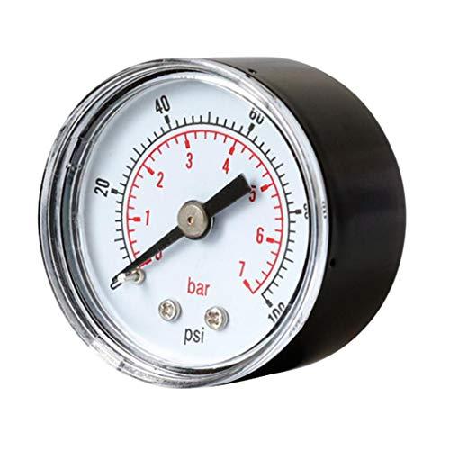 Harilla 1 / 8BSPT 40mm Manómetro de Aire Neumático PSI 0-7 Bar Horizontal
