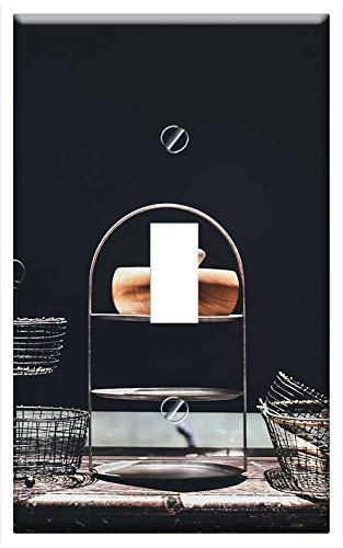 Best Deals! Switch Plate Single Toggle - Basket Food Basket Fruit Basket House Indoors
