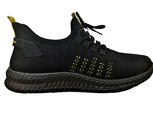 Kings Apparel Lightweight Breathable Walking Shoes Non Slip Athletic Fashion Sneakers Mesh Workout Casual Sports Shoes Tennis Shoes (Black, Numeric_11)