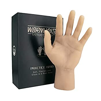 ITATOO Silicone Tattoo Practice Hand Fake Tattoo Hand Dummy Fake Tattoo Skin for Tattoo Artists and Beginners  Left Hand with Short Arm