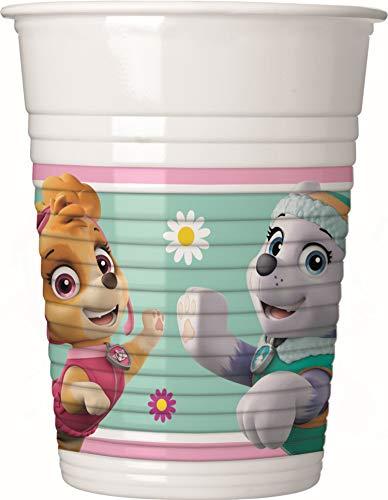 Procos- Paw Patrol Skye & Everest Juego de Vasos de plástico, Color Rosa/Verde (Ciao SRL PR90276)