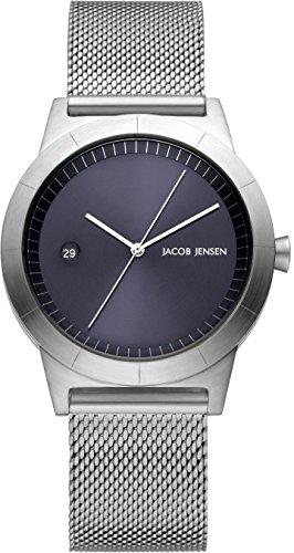 Jacob Jensen dames analoog kwarts horloge met roestvrij stalen armband 153