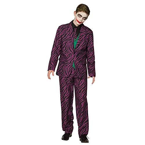 Boland 79202 – Disfraz infantil de villano, corbata, chaqueta 2 en 1 y pantalones, traje, disfraz para adolescentes, niño, psicó, Halloween, carnaval, fiesta temática