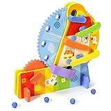 Wosiky Holz Bausätze Riesenrad Holzbausteine Set Holzspielzeug Pädagogisch 3D-Holzbausatz Geschenk für Kinder